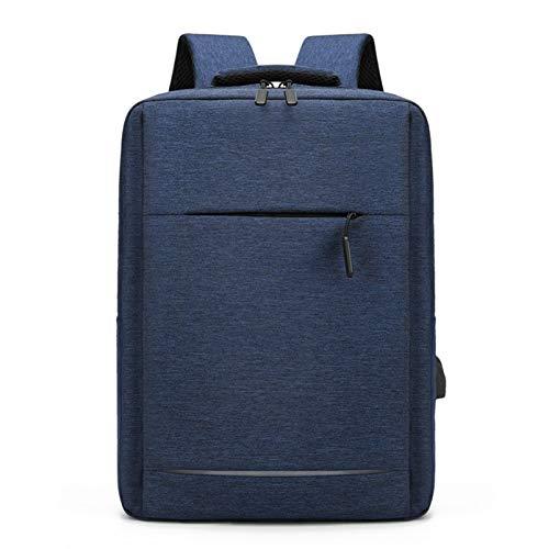 LYNNDRE Hombres Mochila, Resistente Al Agua Antirrobo Mochila con Puerto De Carga USB, Ordenador Portátil De Viaje Durable Bolsa Laptops por Ordenador Secundaria,Azul