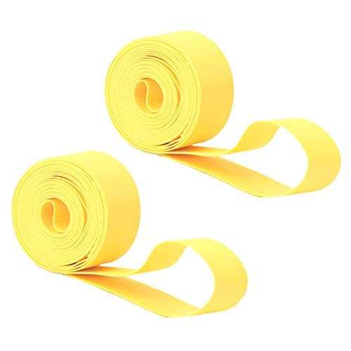 sharprepublic 2 Unids/Set Forro de Neumático de Bicicleta de Montaña Almohadilla Antipinchazos Protector de Tubo Interior Amarillo - 29 Pulgadas x 20 mm