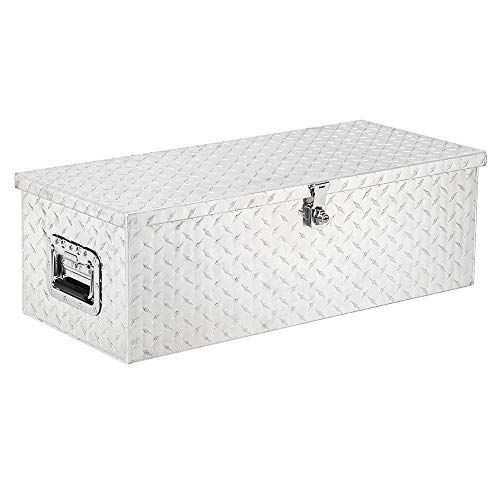 TUFFIOM 30 inch Updated Aluminum Truck Tool Box,Trailer Pickup ATV Underbody Truck Bed Storage Toolboxes w/Lock & 2 Keys, Rectangle (30 inch)
