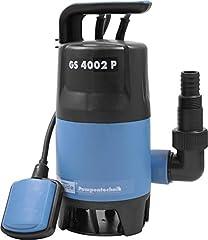 Güde 94630 Pompe de plongée sous-marine GS4002P avec var. Interrupteur nageur (400W, 7500l/h, max. hauteur de convoyage)