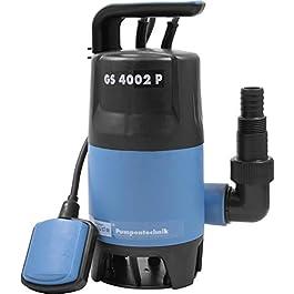Güde 94630 GS4002P Pompe submersible pour eaux usées avec interrupteur flotteur 400 W, 7500 l/h, hauteur de refoulement…