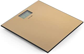 Homes r us Camry Electronic Personal Scale - Gold, Stainless Steel
