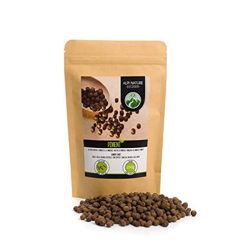 Pimienta de Jamaica entera (250g), granos de pimienta de Jamaica 100% natural, especia sin aditivos, vegana, semillas de pimienta de Jamaica