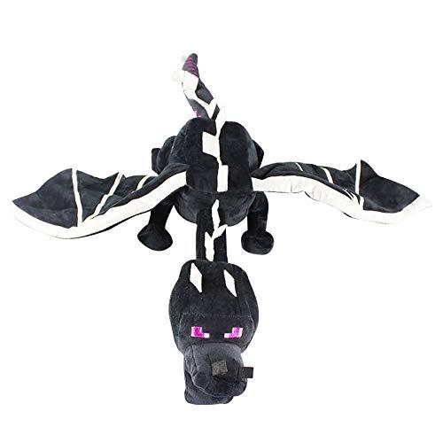 letaowl Plüschtier 65cm Ender Drachen Plüsch Spielzeug Weiche Angefüllte Puppe Schwarz Enderdragon Kinder Weihnachten Geschenk