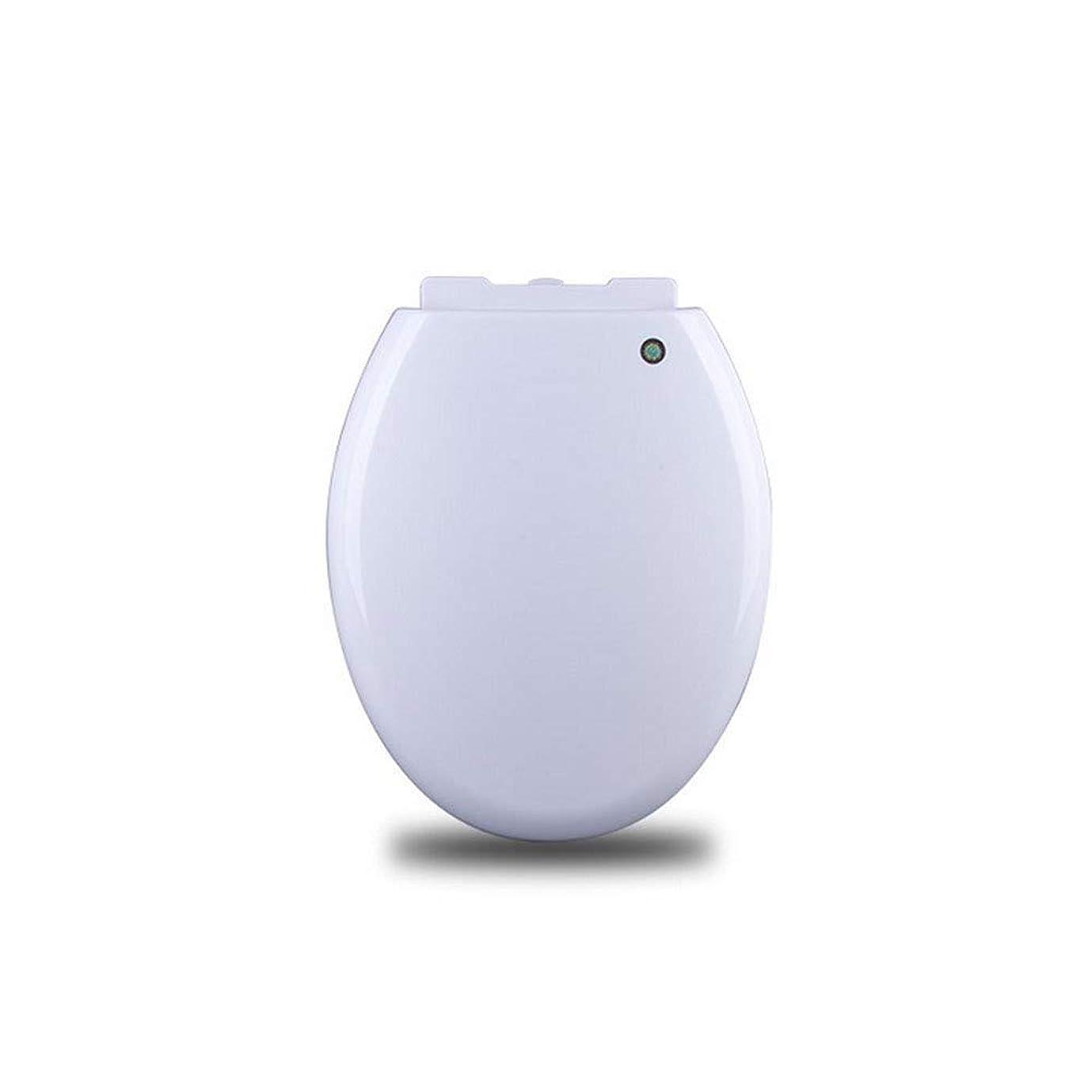 枕突っ込む意味トイレパッドO/Vシェイプバッファシート付きトイレシートクイックリリーストイレ蓋付きバスルームと洗面所用ホワイト-36.3CM * 42?44CM