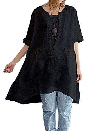 Zilcremo Las Mujeres Ropa De Algodon Blusa Vestido Boho Tunic Tops Loo