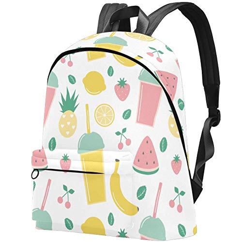 Smoothies and Fresh Fruits Kinder-Rucksack für Teenager, Mädchen, elementarer Schulranzen, Schulranzen, Büchertaschen, Teenager