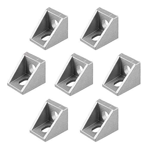 Micgeek Profilé en aluminium 32 pièces, extrusion en aluminium indéformable, structure de cadre en aluminium pour lindustrie de la construction 2020 rainure 20 x 20 x 17 mm