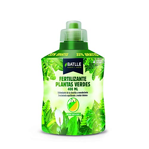Abonos - Fertilizante Plantas Verdes Botella 400ml - Batlle