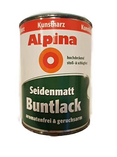 Alpina Kunstharz Seidenmatt Buntlack außen/innen 0,5 L Farbwahl, Farbe:türkis