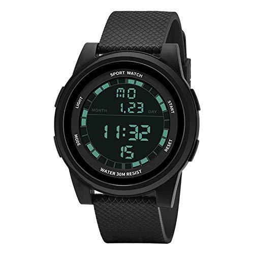 gengyouyuan Reloj Deportivo Reloj Militar Impermeable al Aire Libre Reloj electrónico Infantil táctico Juvenil. (Todo Negro)