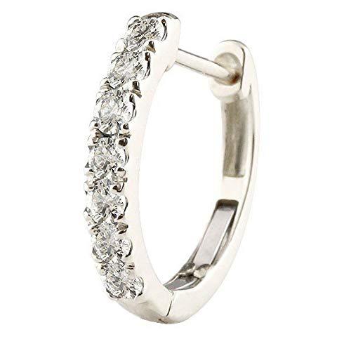 [アトラス] Atrus ピアス メンズ 片耳 pt900 プラチナ900 ダイヤモンド フープピアス 中折れ式 4月誕生石 天然石