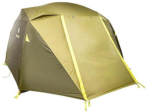 Marmot Leichtes Zelt 4 Personen, 4 Mann Trekking Zelt, Camping Zelt, Absolut Wasserdicht Limestone 4P, Green Shadow/Moss, 4 Personen, 29100