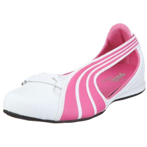PUMA Espera III L Jr 303707, Mädchen, Ballerinas, Pink  (white-shocking pink-white 01), EU 28  (UK 10)  (US 11)