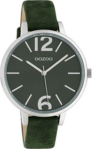 Oozoo Damenuhr mit Lederband 38 MM Grün/Grün C10436