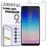 REY - Protector de Pantalla para Samsung Galaxy A8 Star - A9 Star, Cristal Vidrio Templado Premium
