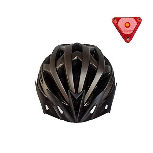 Fahrradhelm Helm mit LED Licht Erwachsene Abnehmbarer Visier für Herren Damen Fahrradschutzhelm Fahrradhelm Herren Schlagfeste PC-Hartschalen Integriert Geformt Geringer Windwiderstand, Komfortabel