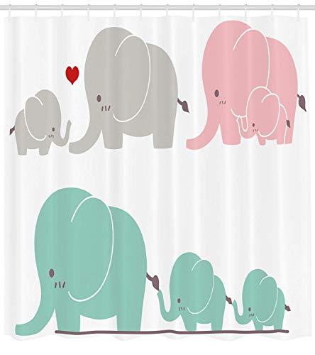 Nyngei Cuartode deTemade Amor Familiar Lindos Elefantesdulces Temadeldíade la Madre Bebé Niños Cuartode con Long Seafoam Rosa