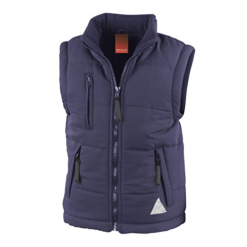 Result Re88j Gilet matelassé, Mixte, RE88J, Bleu Marine, 2X-Small/Size 2/3