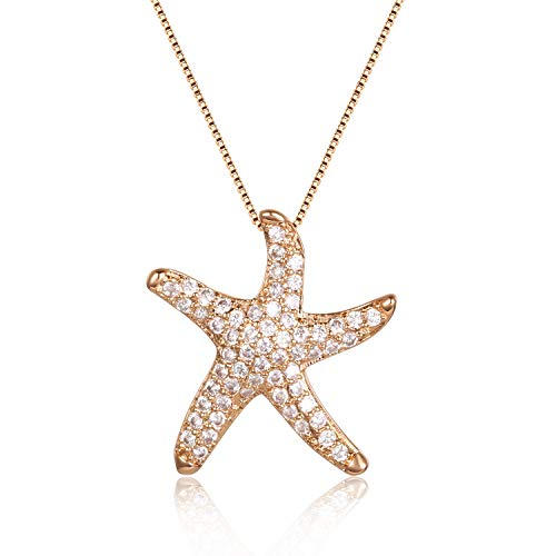 Aimber Friendship Starfish Pendant Necklace for Women and Girls
