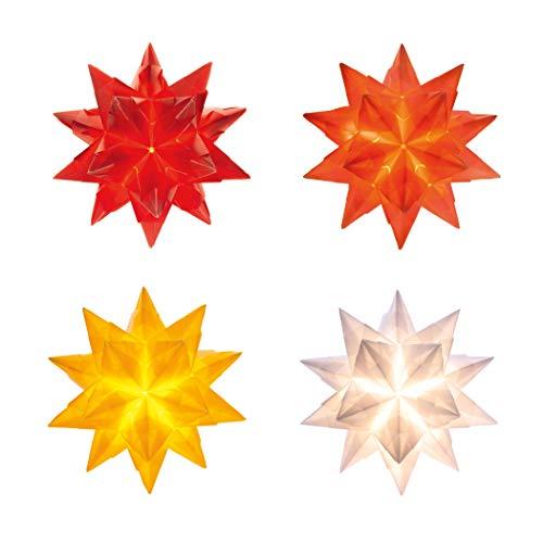 Bascetta Stern mit LED 15 x 15 cm in 4 Farben Bastelset