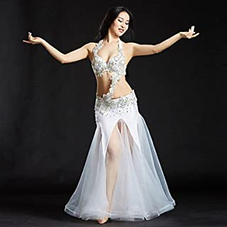 c360ed3b2 Belly Dance Outfits Women's Performance Polyester Sequin Crystals/ Rhinestones 3 Pieces Sleeveless Dropped Skirts Bra