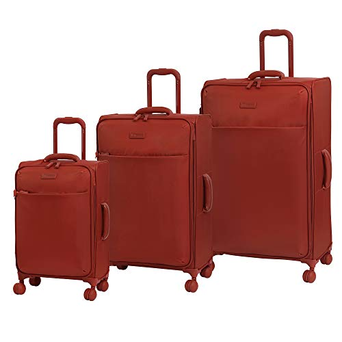 it luggage Lustrous Expandable Lightweight 3 Piece Set, Red Orange, One Size