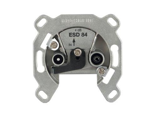 Kathrein ESD 84 Antennen-Steckdose 2-fach (TV, Radio, Breitband Einzelanschlussdose)
