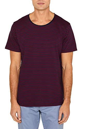 edc by ESPRIT Herren 039CC2K024 T-Shirt, Blau (Navy 2 401), Large (Herstellergröße: L)