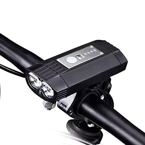 Bicicleta Ciclismo Faro Delantero, USB Recargable Super Brillante Y IPX6 Impermeable De La Luz De La Bicicleta Instala En Segundos Sin Necesidad De Herramientas, Potente Linterna De La Bici Adapta