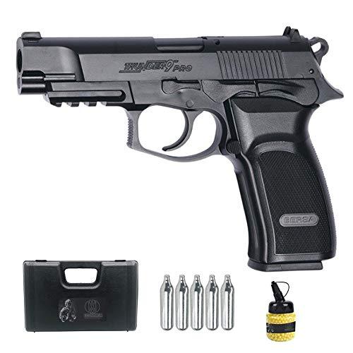 Pistola ASG Bersa Thunder 9 Pro (6MM)   Funciona con CO2, semiauutomatica, Color Negro.