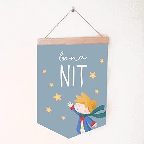 StarStick - Banderola Bebé Dulces sueños pequeño príncipe - Catalán