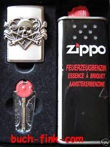 Briquet zippo skull with heart boîte-cadeau