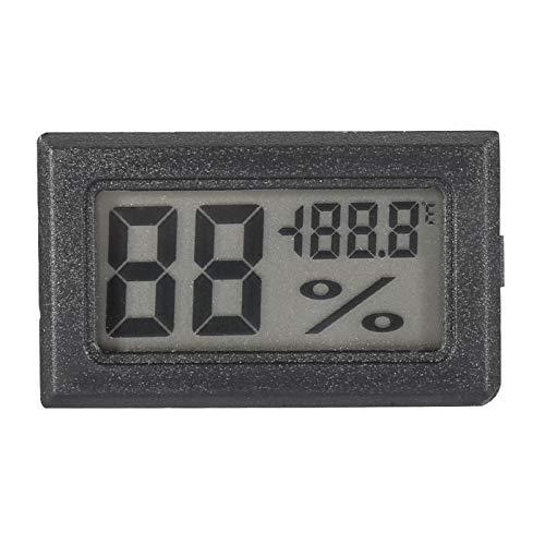Termometro di umidità, igrometro Digitale LCD Termometro per Interni Monitor di umidità per casa, Ufficio, Serra, Auto(Nero)