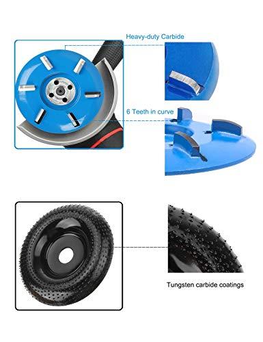 Angle Grinder Wood Carving Disc, Wood Grinding Wheel Angle Grinder Sanding Disc, Stump Grinder Grinding Disc for Angle Grinder Attachments