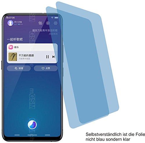 4ProTec I 2X Crystal Clear klar Schutzfolie für Vivo NEX S Bildschirmschutzfolie Displayschutzfolie Schutzhülle Bildschirmschutz Bildschirmfolie Folie
