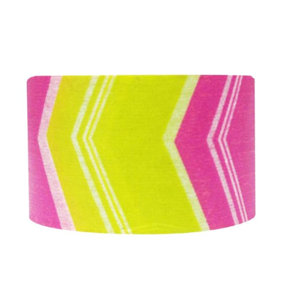 Wrapables Block Motif Washi Masking Tape, Hot Pink/Yellow Arrow