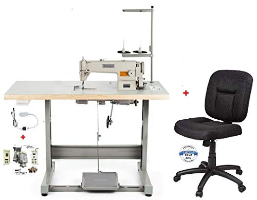 Juki DDL-5550 LockStitch Industrial Sewing Machine + chair, table,servo motor,lamp,DDL5550n Made in Japan DIY