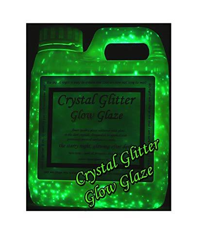 Crystal Glitter Glow Glaze, Glow in The Dark Paint a Starry Night 3D Effect, 1 Litre