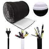 cubre cables- recoge cables flexible de 300 * 13.5 cm, organizador de cables ajustable, utilizada para TV, computadora, oficina, cine en casa