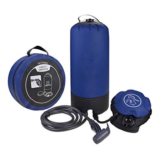 M STAR Camping Dusche, 11 Liter Portable Outdoor Camping Hochdruck Dusche, Mit Fußpumpe Und Duschkopf, Geeignet Für Strandschwimmen, Waschen, Wandern Rucksack