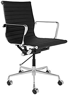 SOHO Ribbed Management Office Chair (Black)