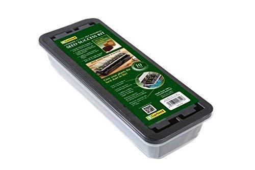 Guirlande Gal57sp1 12-Cell avec système d'arrosage Automatique Taille complète de graines de Propagateur avec pastilles, Noir, 38 x 14 x 16 cm