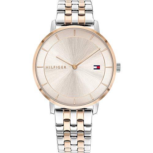 Tommy Hilfiger Reloj Analógico para Mujer de Cuarzo con Correa en Acero Inoxidable 1782284