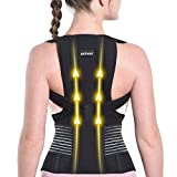 Posture Corrector for Women and Men Back Brace Straightener Shoulder Upright Support Trainer for Body Correction and Neck Pain Relief, X-Large(waist 42-46 inch), By Sicheer