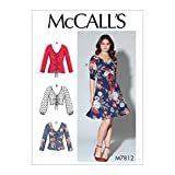 McCall's Patterns McCall's M7812 Women's V-Neck Dress and Pullover Top Sewing Patterns, Sizes 16-26, L-XL-XXL, White