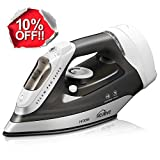 kealive Steam Iron, Omnipotent Professional Large Anti-Drip Nonstick Iron, Vertical Steam Burst Clothes Iron, Anti-Calcium System, Self-Clean, Retractable Cord, Steam Control