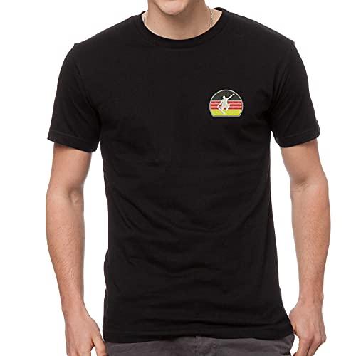 Skateboarden Deutsche Flagge Fahne Sport Bestickte T-Shirt Premium-Qualität - SPRT 4072- Schwarz