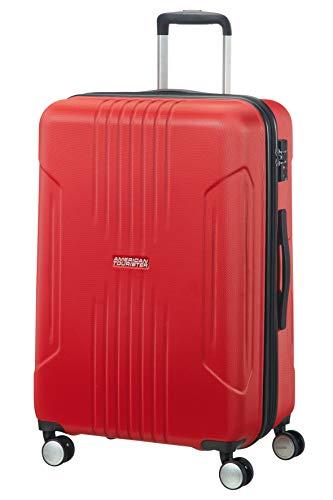 American Tourister Tracklite - Bagaglio a Mano, M (67 cm - 82 L), Rosso (Flame Red)