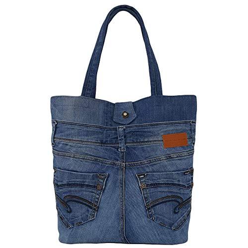 Bolso denim bolsillos delanteros, Bolso grande azul, Bolsos y carteras artesanales, Bolso de la...